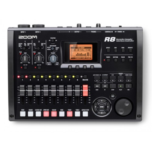 ZOOM - R8 رکوردر، کنترلر، سمپلر و کارت صدا |